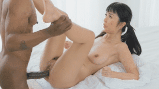 Cute korean journalist fucked by the BIGGEST BBC